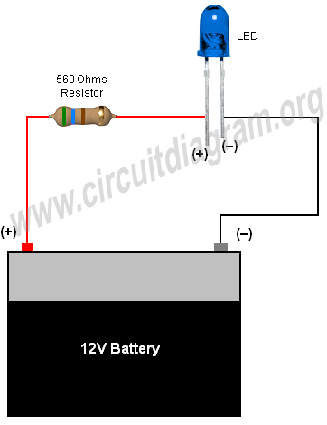simple basic led circuit  circuit diagram  led projects