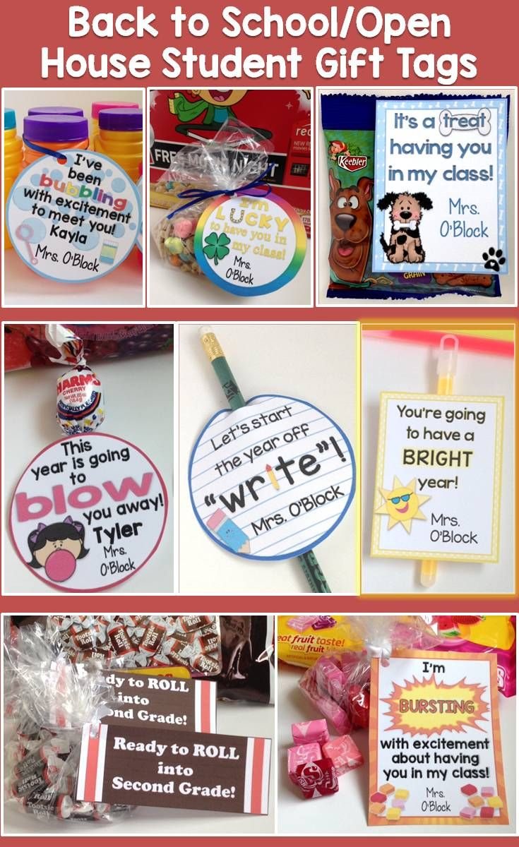 Use This Set Of Cute And Colorful Student Gift Tags To Easily Create Memorable Back