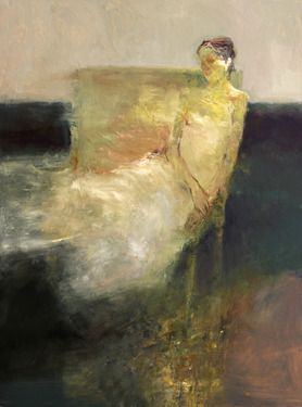 "Saatchi Online Artist Dan McCaw; Painting, ""Seated Figure"" #art"