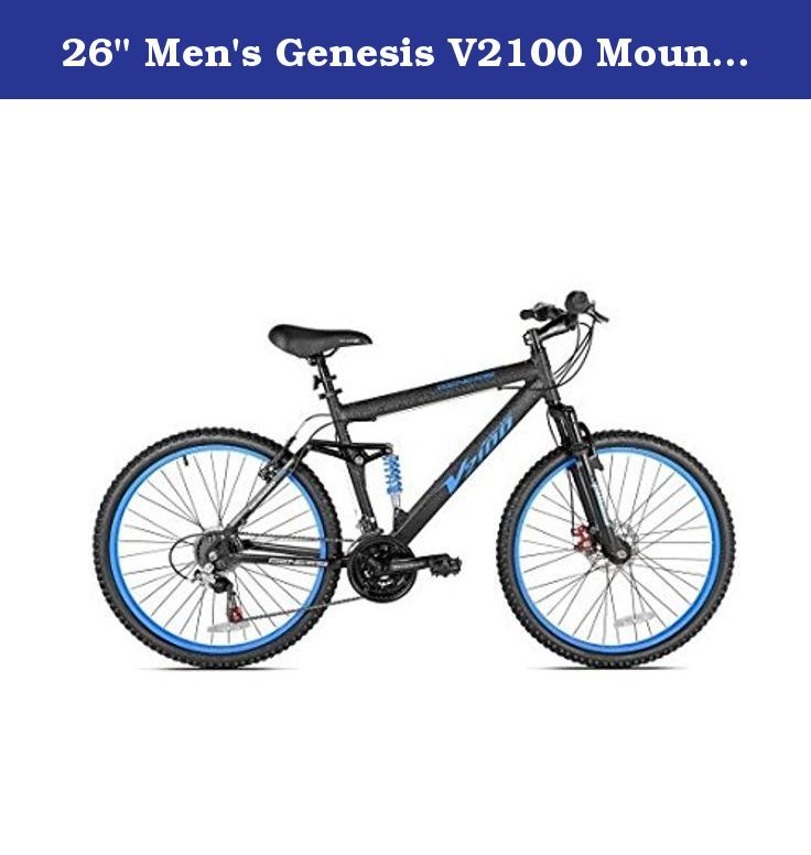 26 Men S Genesis V2100 Mountain Bike Blue Black Genesis