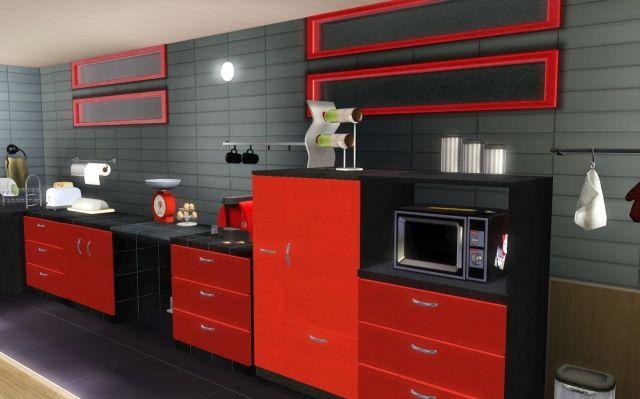 Idée Déco Cuisine Rouge Et Noir | Idées Pour La Maison | Pinterest
