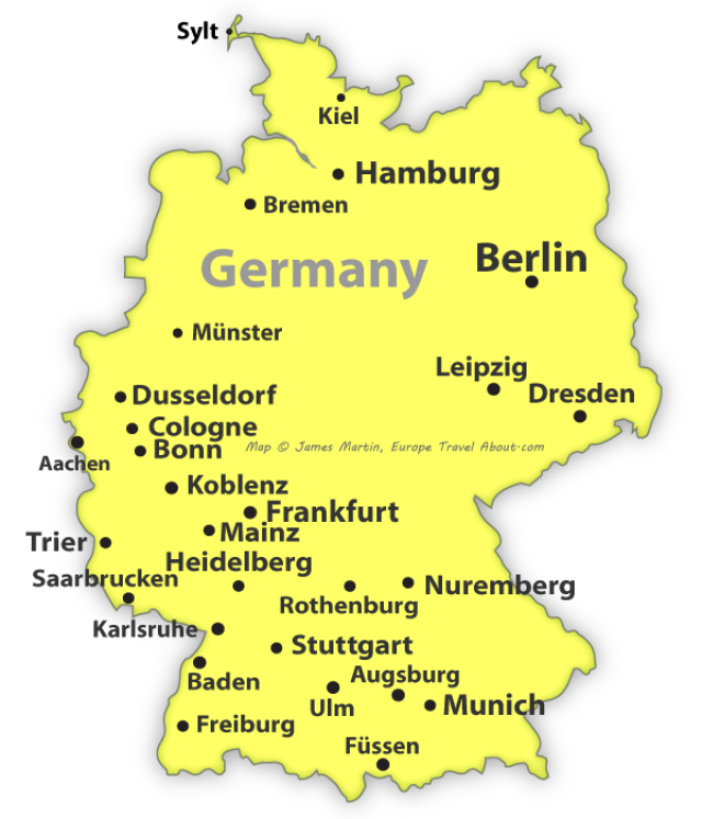 Germany Guide Planning Your Trip Germany Map Germany German Map