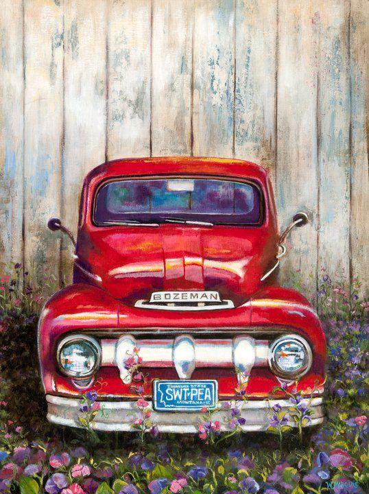 pin von ingrid krottendorfer auf malen pinterest malen oldtimer autos und werbeschild. Black Bedroom Furniture Sets. Home Design Ideas