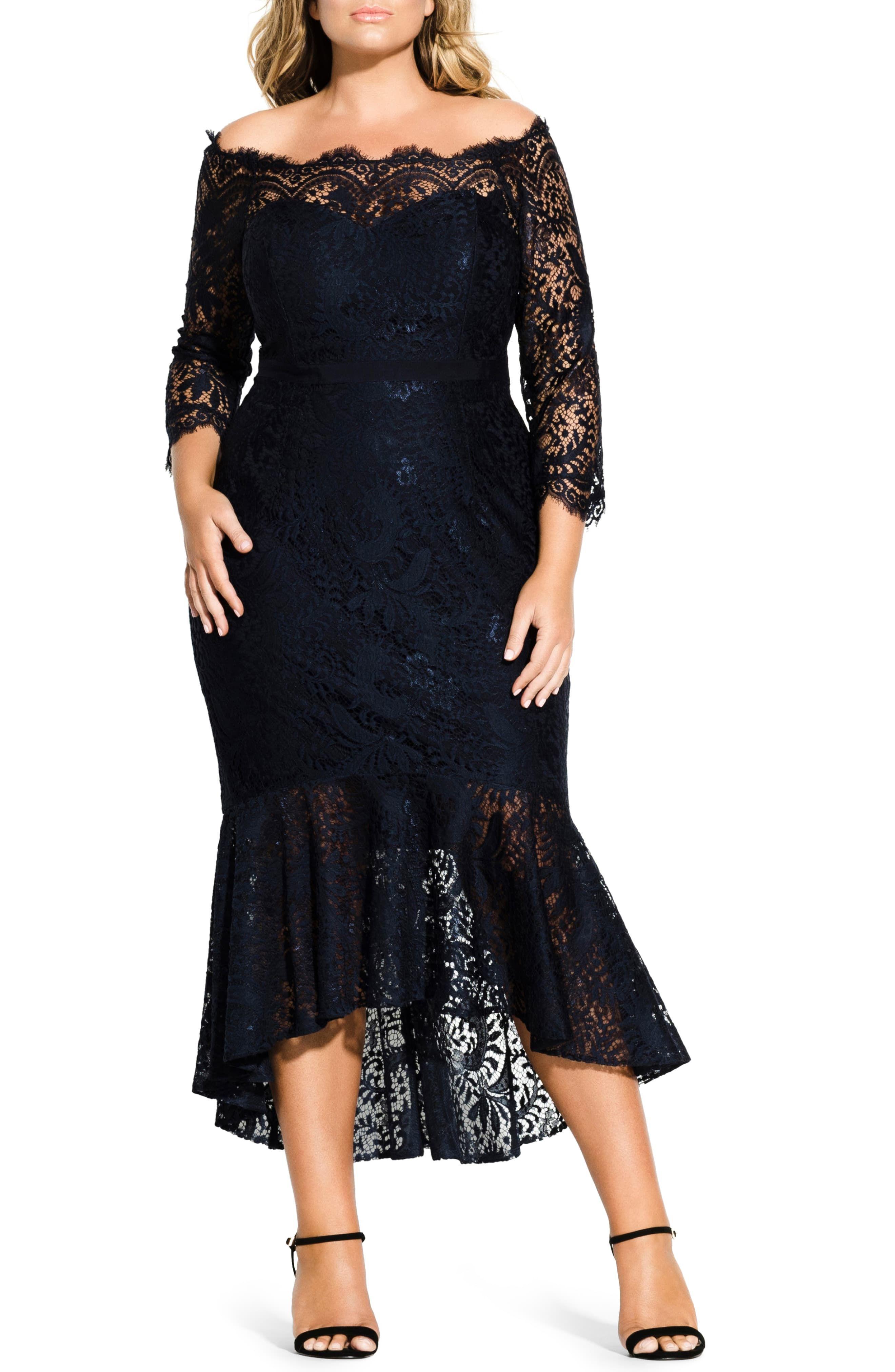 City Chic Estella Off The Shoulder Dress Plus Size Nordstrom Plus Size Formal Dresses Long Sleeve Bridesmaid Dress Evening Dresses Plus Size [ 4048 x 2640 Pixel ]