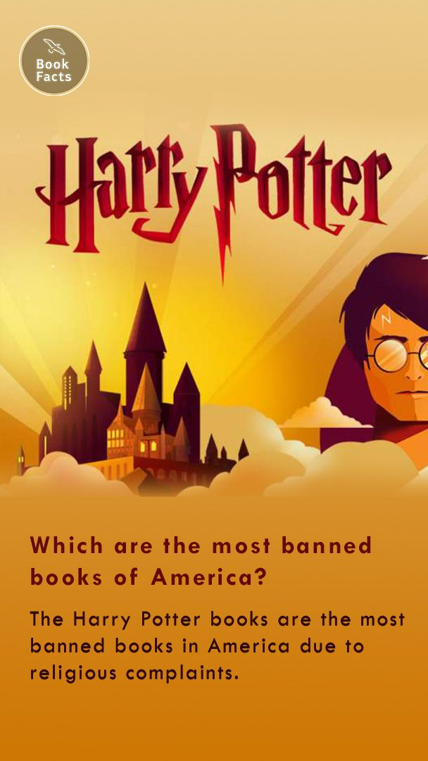 Harry Potter books are the most banned books in America