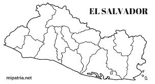 Resultado De Imagen Para Mapa De El Salvador Con Departamentos Map World Map Diagram