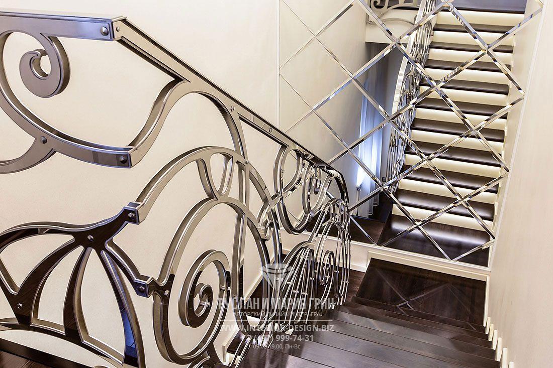 Дизайн лестницы в загородном доме. Фото 2017   Дизайн ...