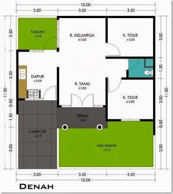 Rumah Minimalis Ukuran 6 X 10 Wiqr Denah Rumah