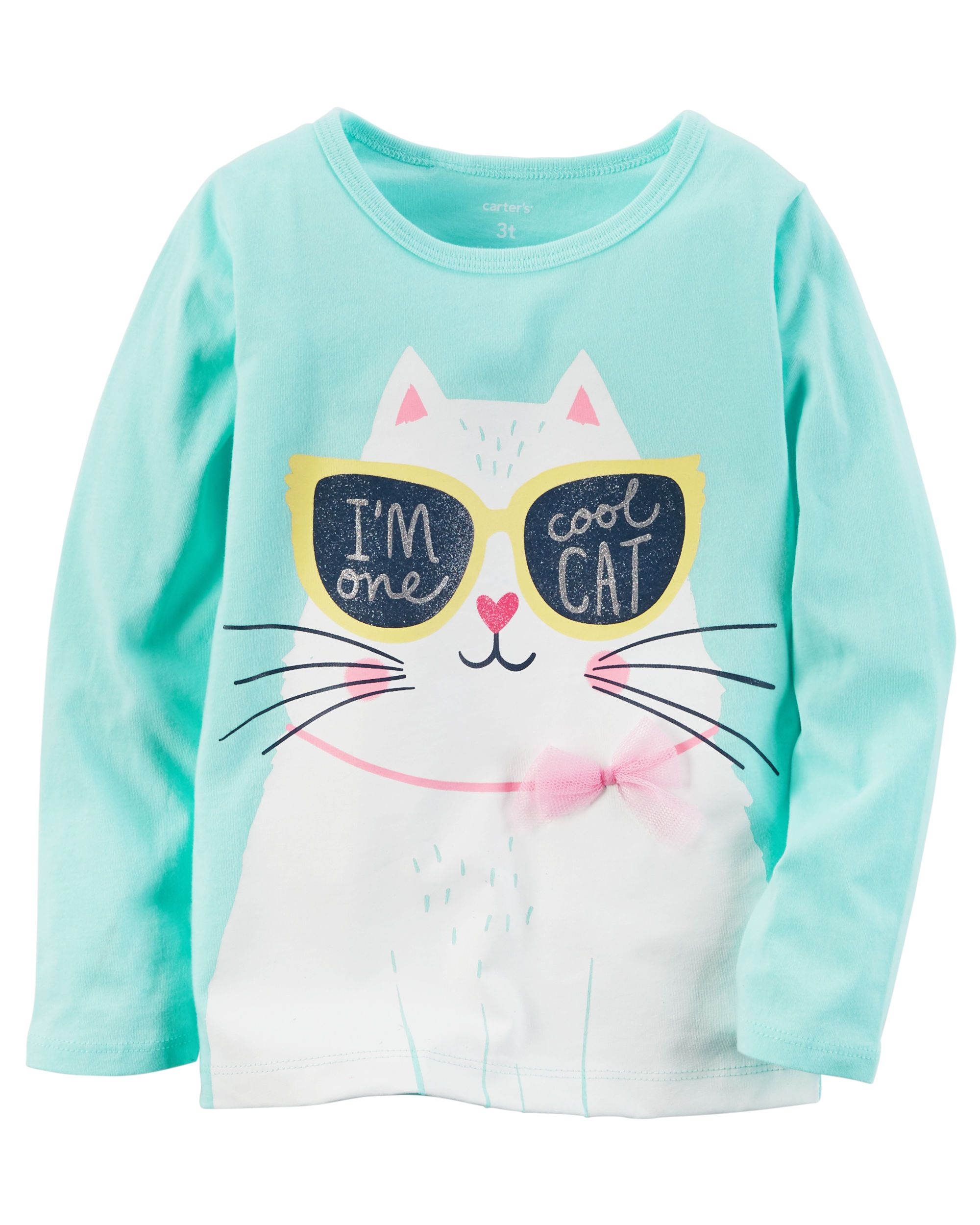 Long Sleeve e Cool Cat Graphic Tee