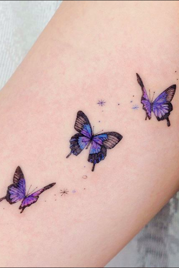 20 Simple and Beautiful Butterfly Tattoos Mainly for Your Fingers, Backs and Arms - The First-Hand Fashion News for Females
