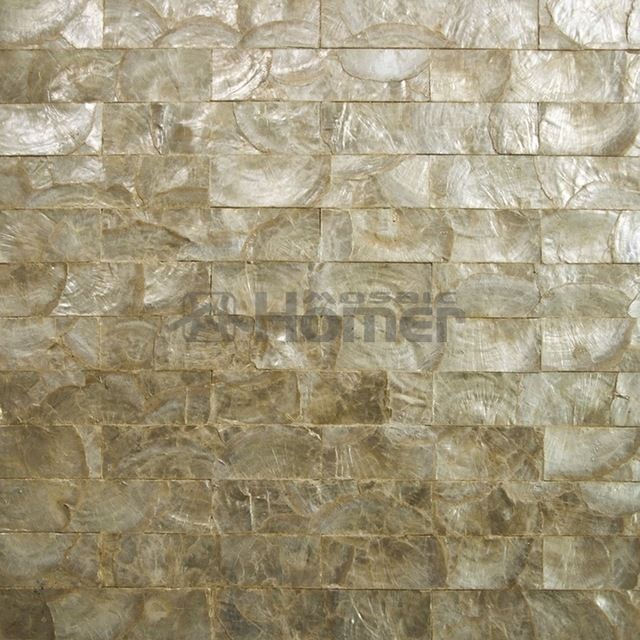 Luxury Golden Capiz Tiles Mesh Backing For Wall Decor Wall Covering Powder Room Wall Mosaic Tile Bat Mosaic Bathroom Tile Shell Mosaic Tile Mosaic Wall Tiles
