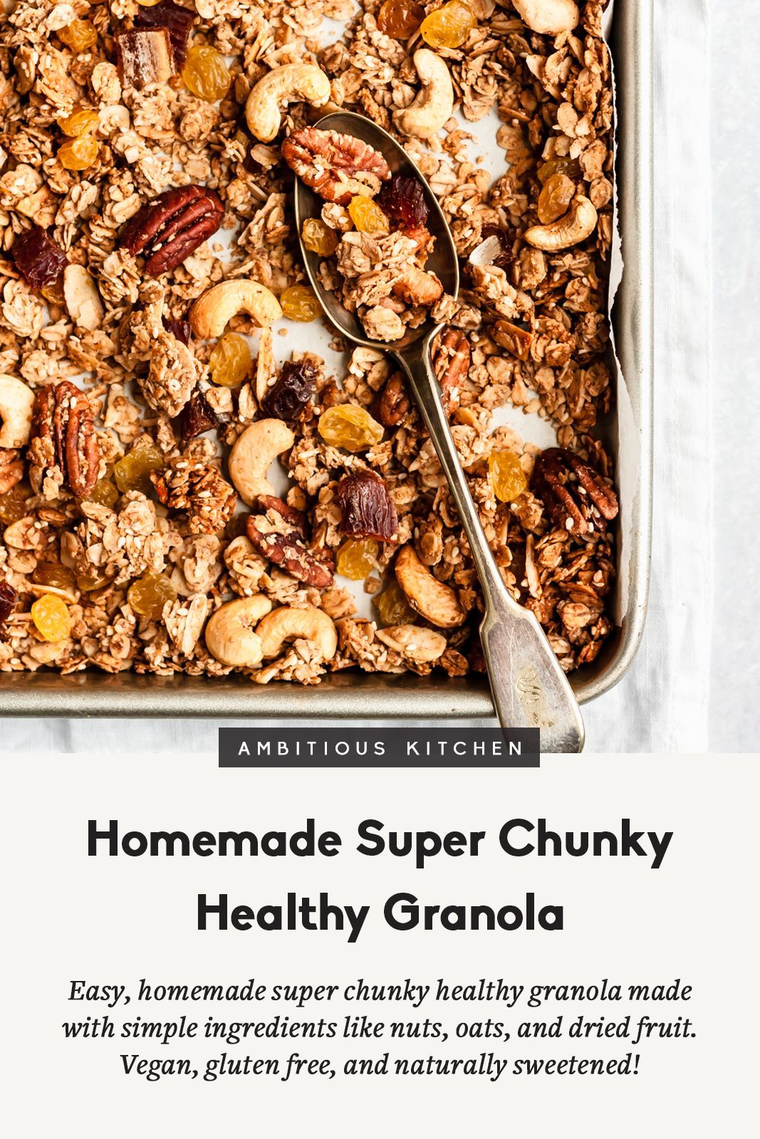Wholesome Granola Recipe (vegan & gluten free!) | Bold Kitchen #flaxseedmealrecipes