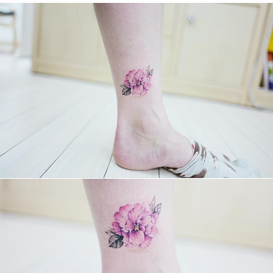 Azalea 아잘레아 Tattooistbanul Tattoo Tattooing Azaleas Colortattoo Botanical Flowertatto Discreet Tattoos Small Tattoos For Guys Tattoos For Women