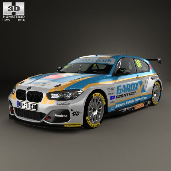 Bmw 1 Series Btcc 2016 3d Model Bmw 3d Models Bmw 1 Series