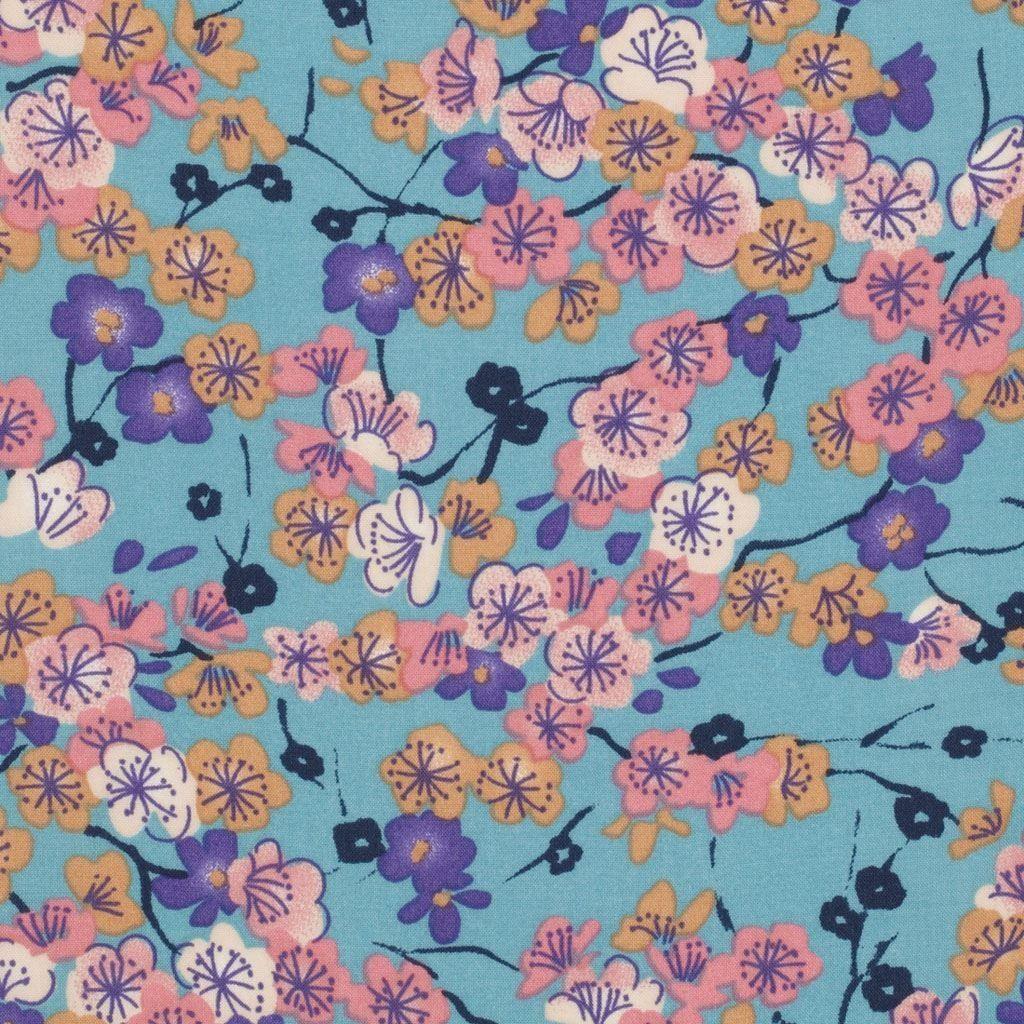 tissu japonais viscose fleurs de cerisier mondial tissus fleurs de cerisier pinterest. Black Bedroom Furniture Sets. Home Design Ideas