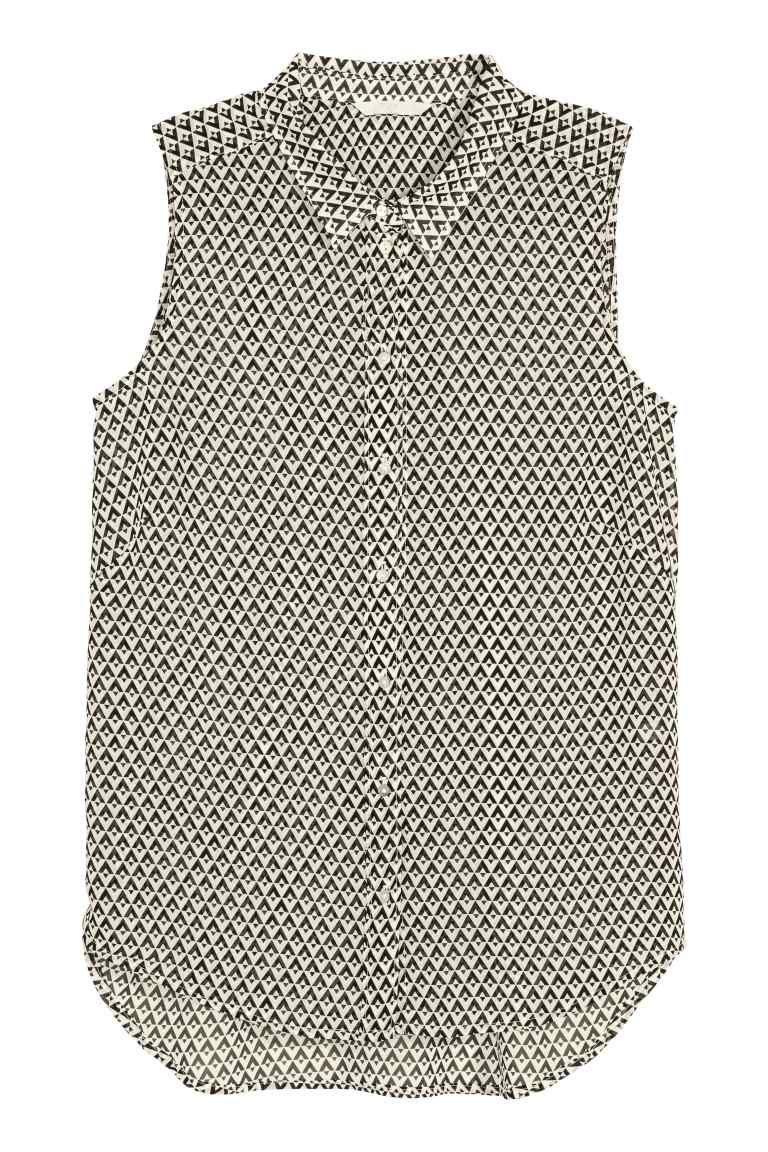 Sleeveless chiffon blouse | H&M