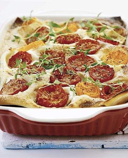 Lasagne con pomodori, zucchine e peperoni al timo (cucina del ...