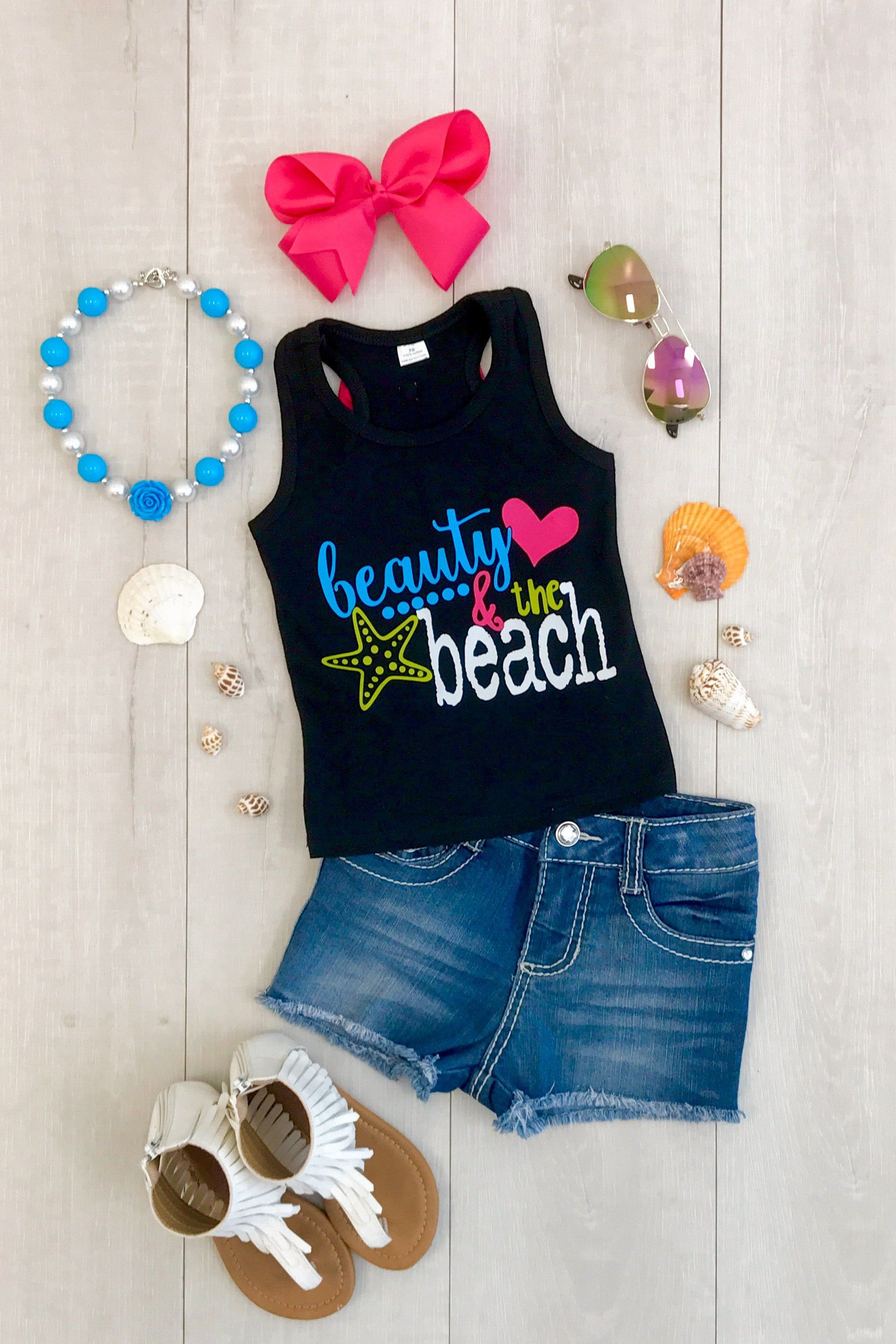 """Beauty & the Beach"""" Tank Top Boutique Outfits Pinterest"""