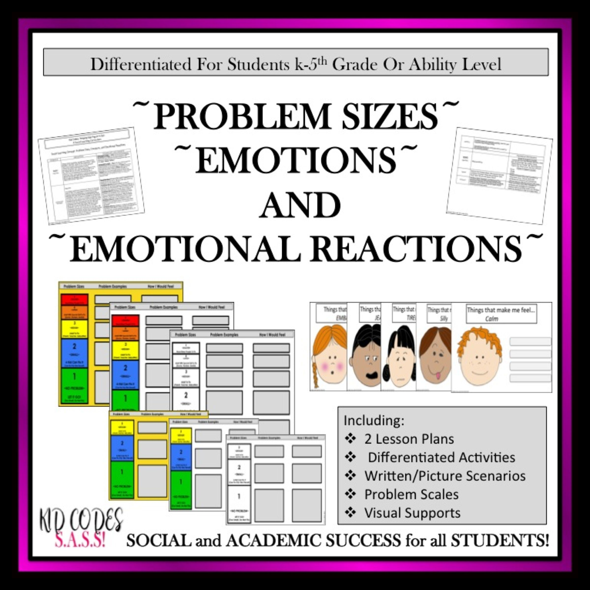 Problem Sizes Emotions And Reactions Differentiated