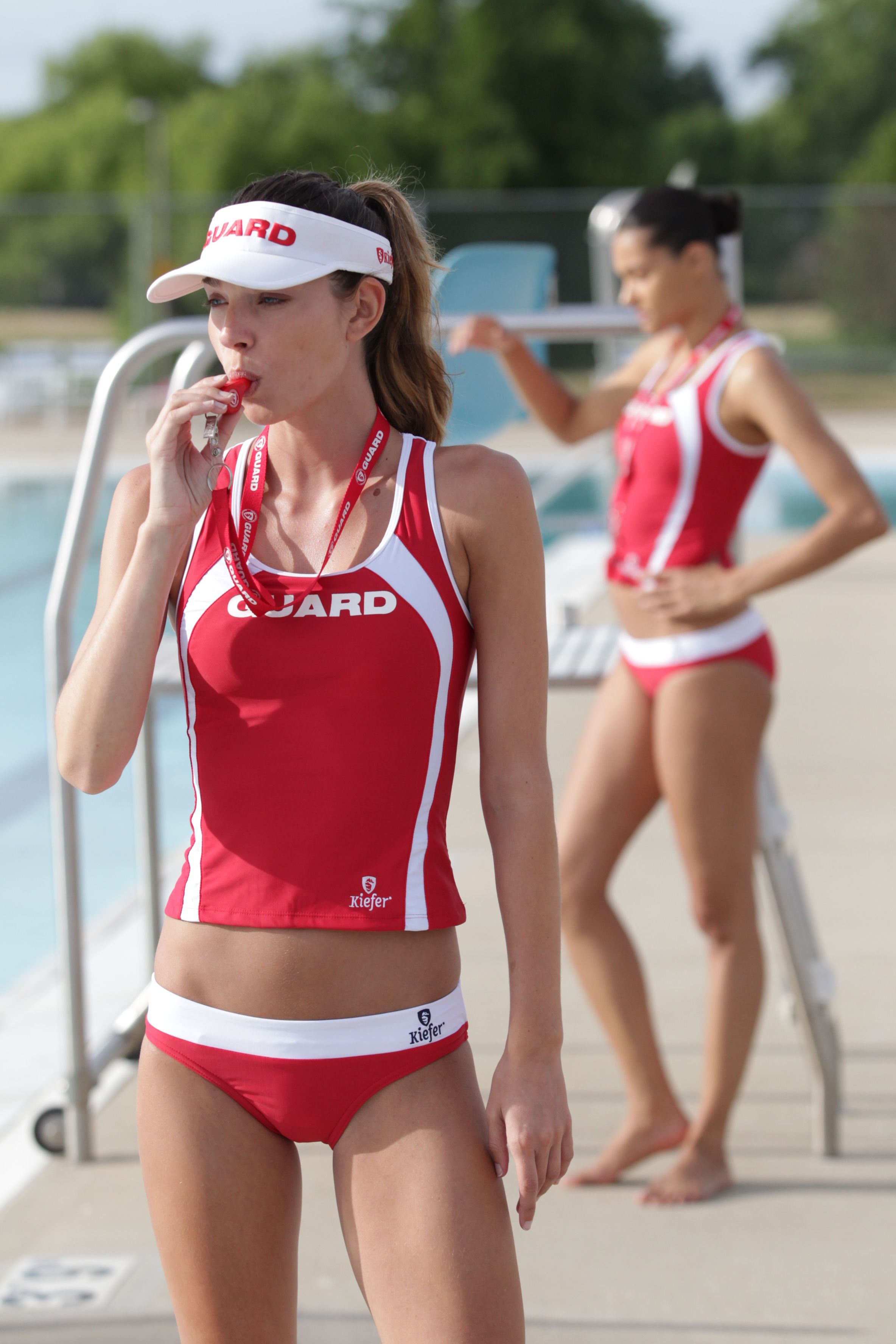 bece065c8d8 Guard separates Tankini   brief  lifeguard  apparel