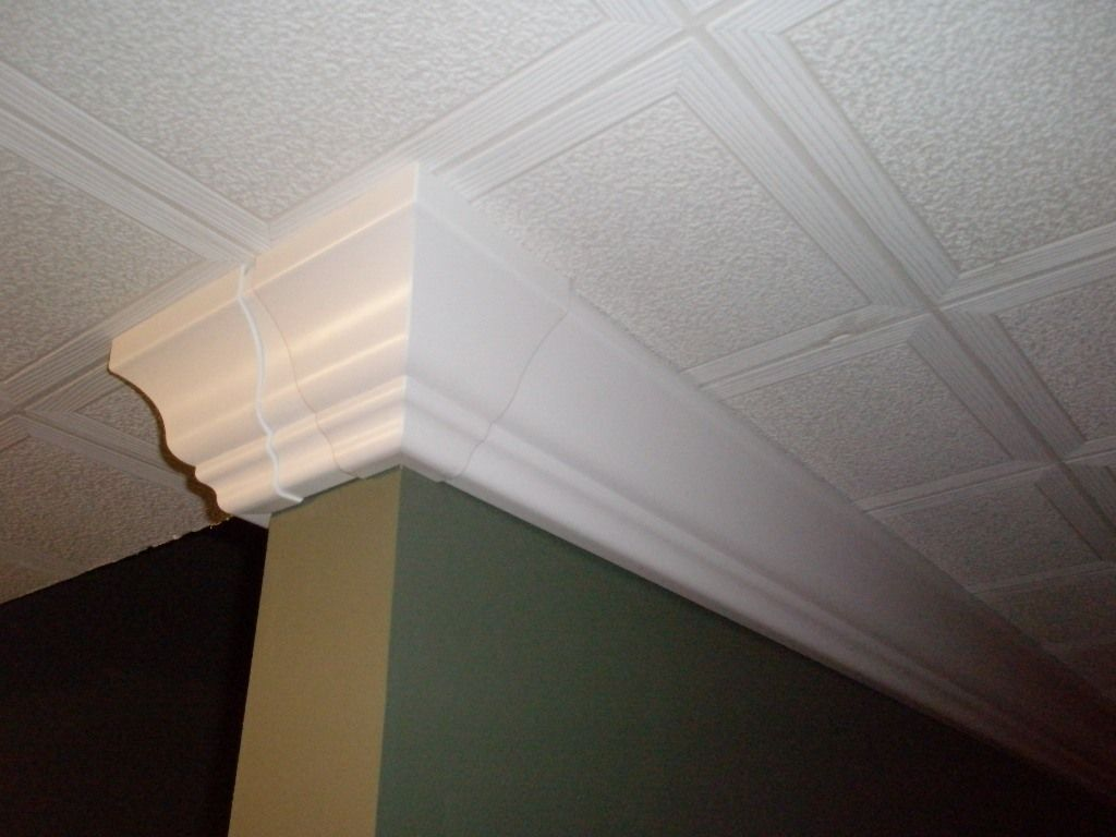 Raceway Crown, a cable raceway that looks like crown molding to ...