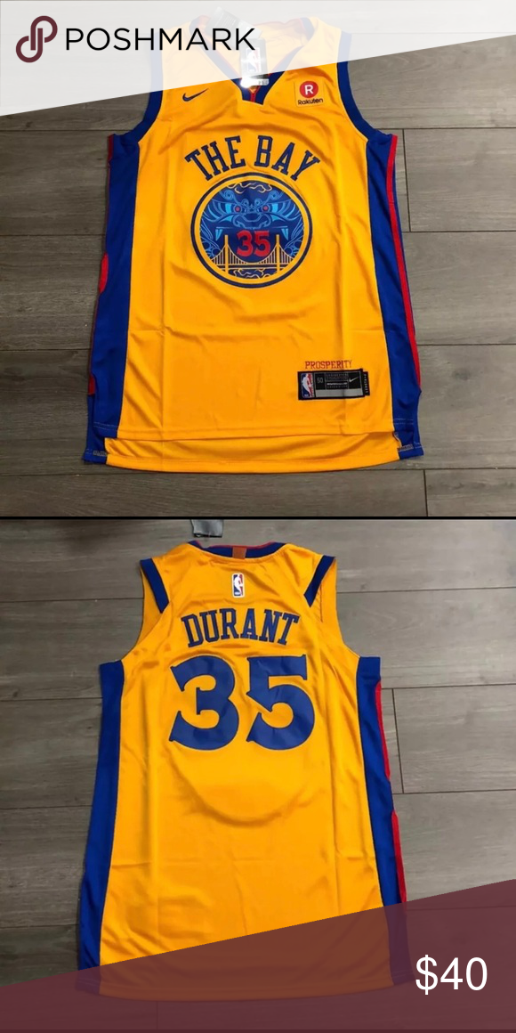 pretty nice e6d52 a3b0a Kevin Durant THE BAY Golden State Warriors Jersey Brand New ...