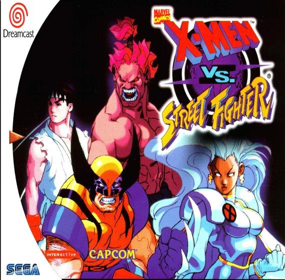 X Men Vs Street Fighter Fan Made Custom Sega Dreamcast Game Xmen Street Fighter Man Vs Marvel Vs Capcom