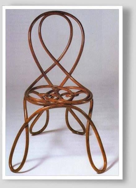 Wonderful Art Nouveau Chair By Gebrüder Thonet Ca.1905
