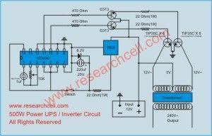 inverter circuit diagram UPS 600va Pinterest Circuit