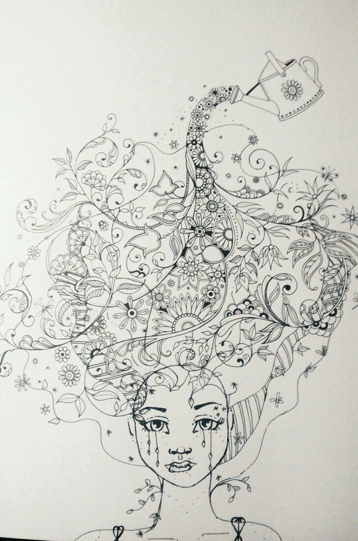 Johanna Basford Secret Garden Artist Edition Adult Coloring Book Page Jane Davenport Mixed