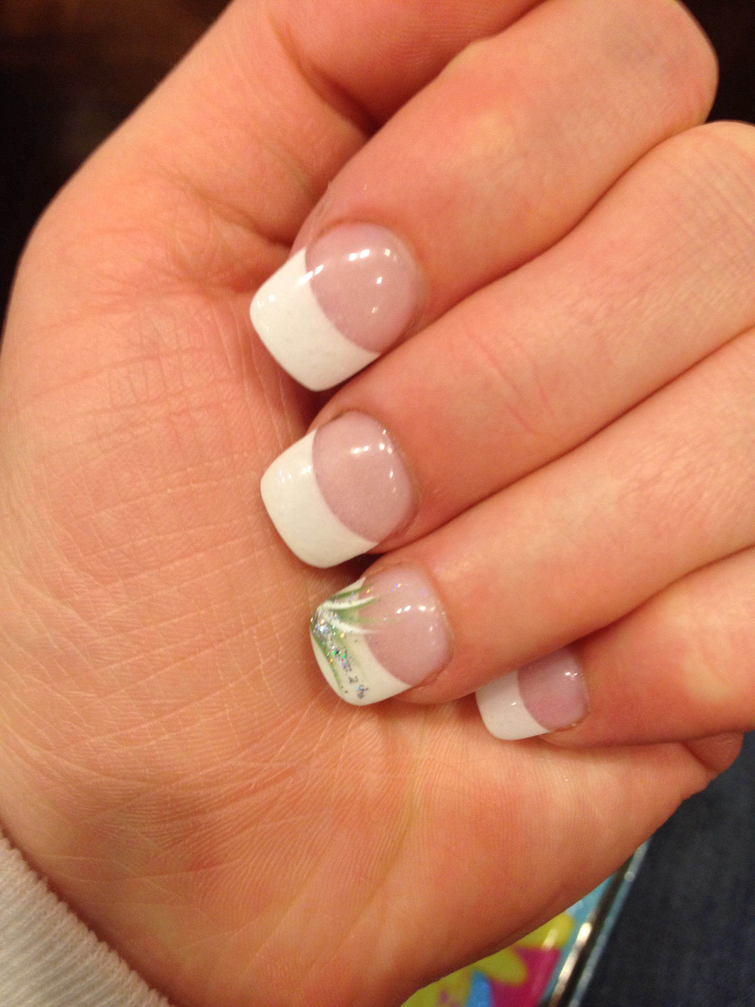 French tips with accent nail | My Life | Pinterest | Accent nails ...