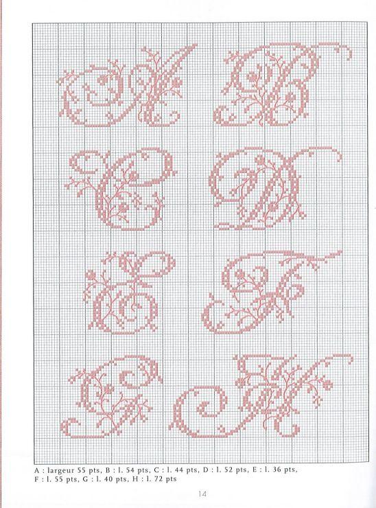 Belles Lettres Point De Croix Gratuit : belles, lettres, point, croix, gratuit, Gallery, Point, Croix,, Lettres, Motifs, Couture