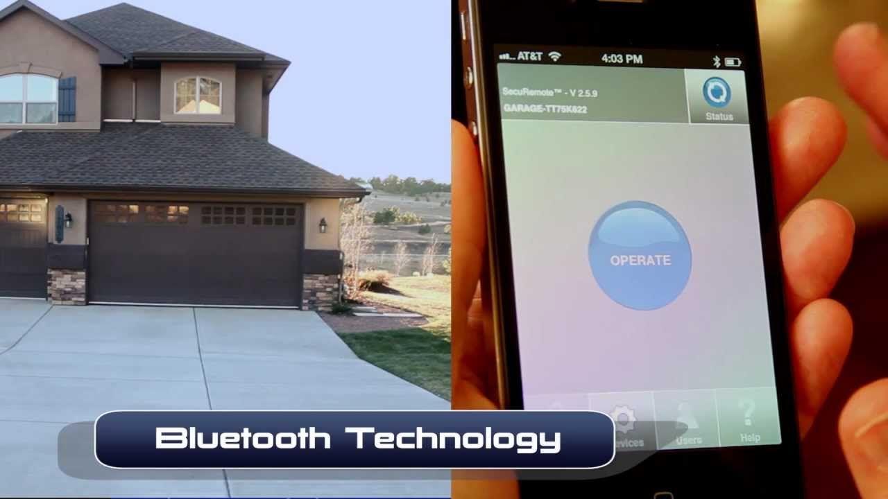 Securemote Bluetooth Garage Door Opener Bluetooth Wifi Smart