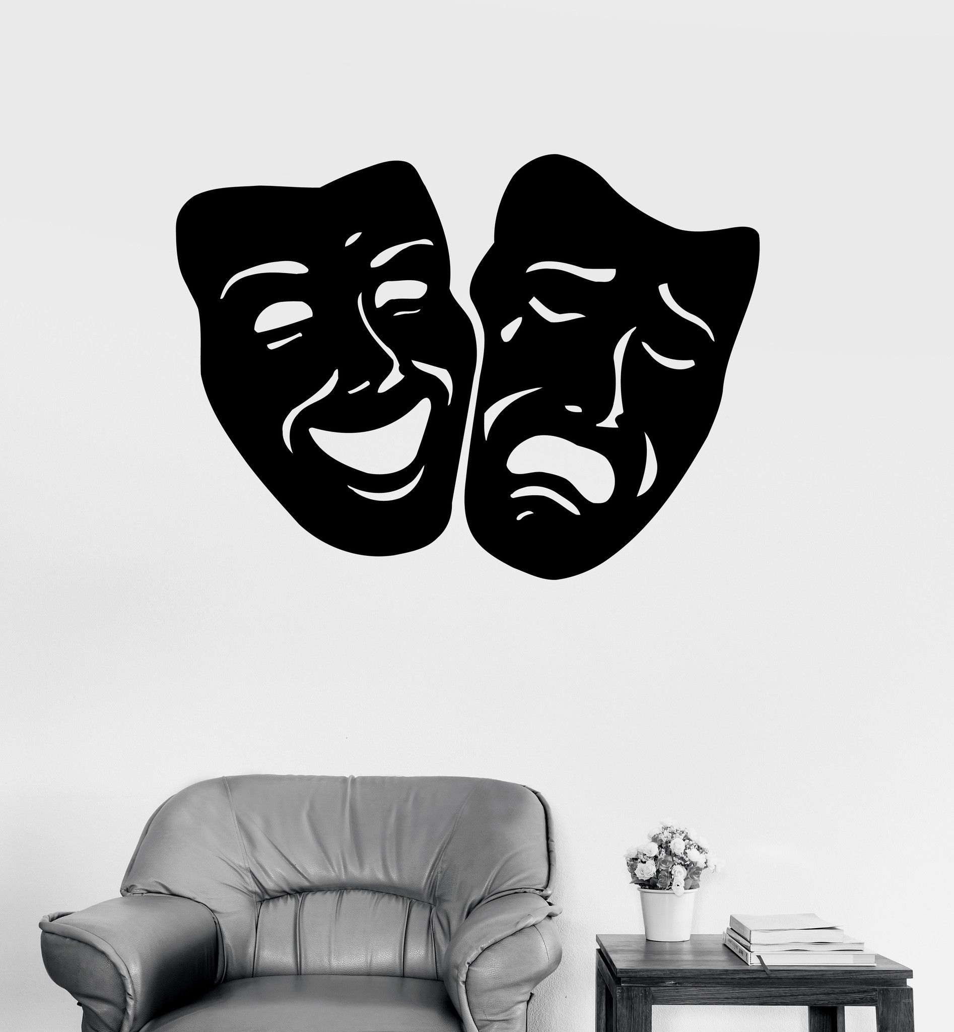 Wall Decals Mask Theatre Secret Vinyl Sticker Z Wall Decals - Locations where sell wall decals