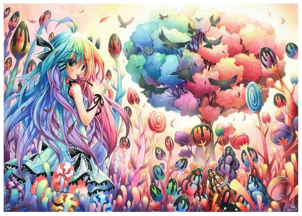 Candy wonderland paradise, rainbow, cute, adorable