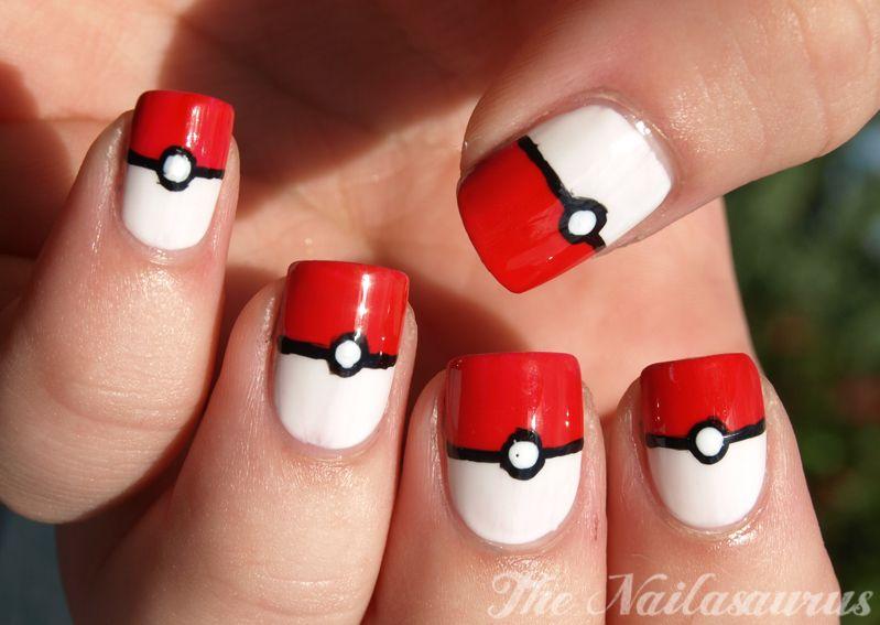 Week of Geek Day 2: Gotta Catch Em\' All (Pokeball Nails   Pokémon ...
