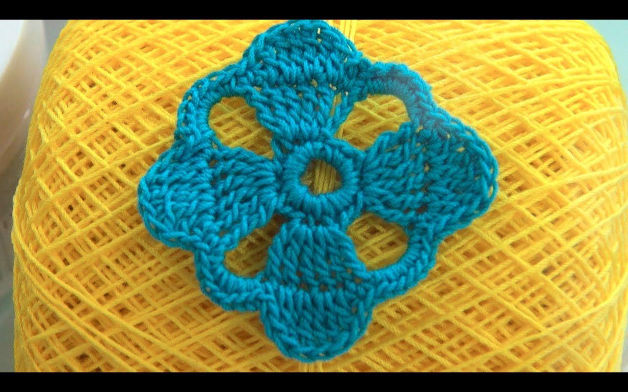 How To Crochet Flower Motif pattern #20