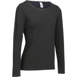 fb01ba0d3050e4 Camiseta de manga larga fitness Essentiel mujer gris oscuro | Shirts ...