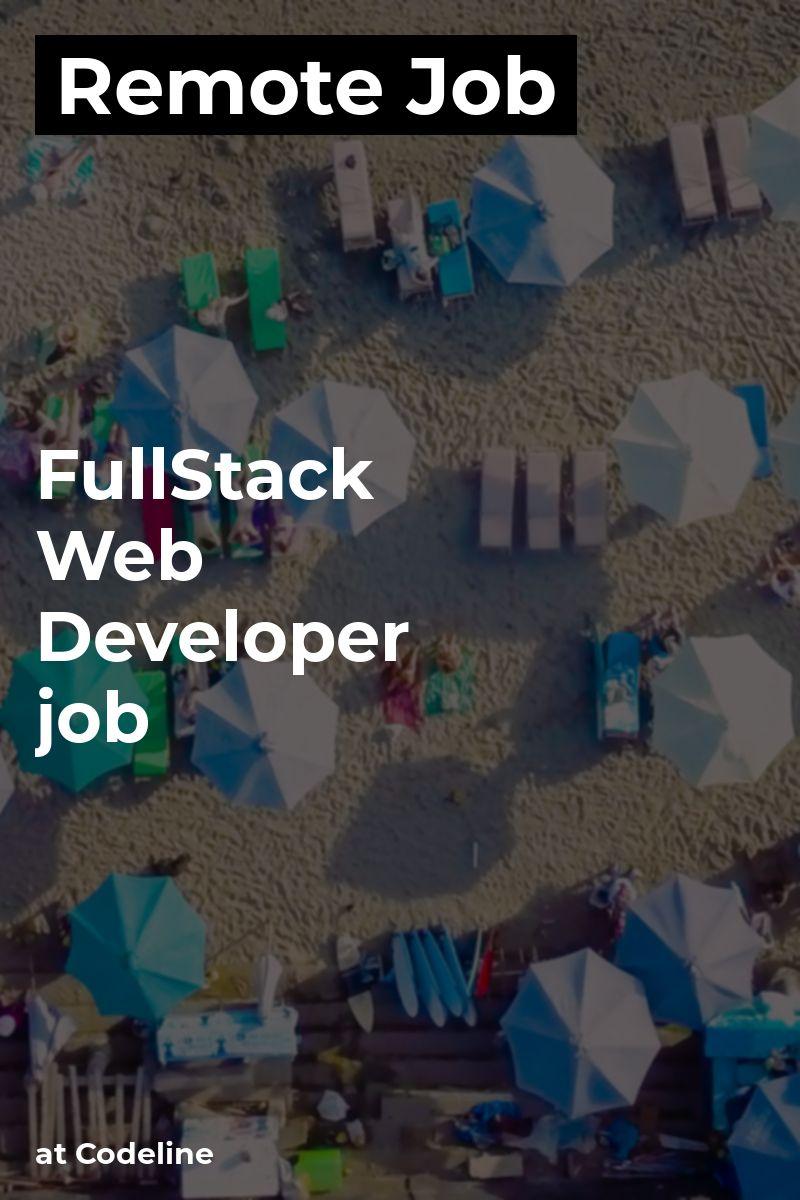 Remote FullStack Web Developer / job at Codeline php