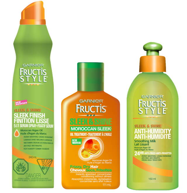 Garnier Fructis Sleek and Shine  http://canadiangiftguide.com/2012/09/01/find-of-the-month-garnier/#