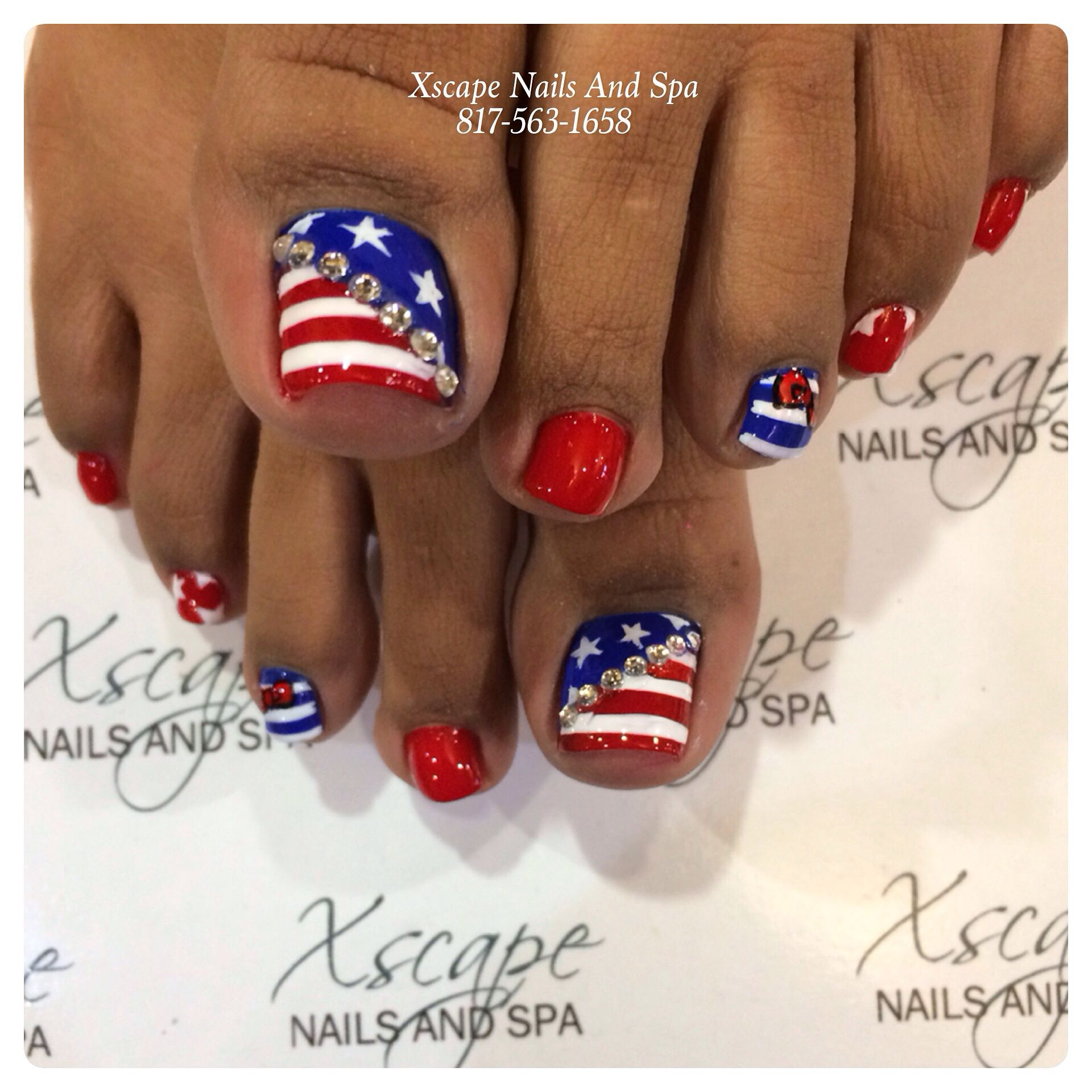 4th July nails | Cute Nails Designs | Pinterest
