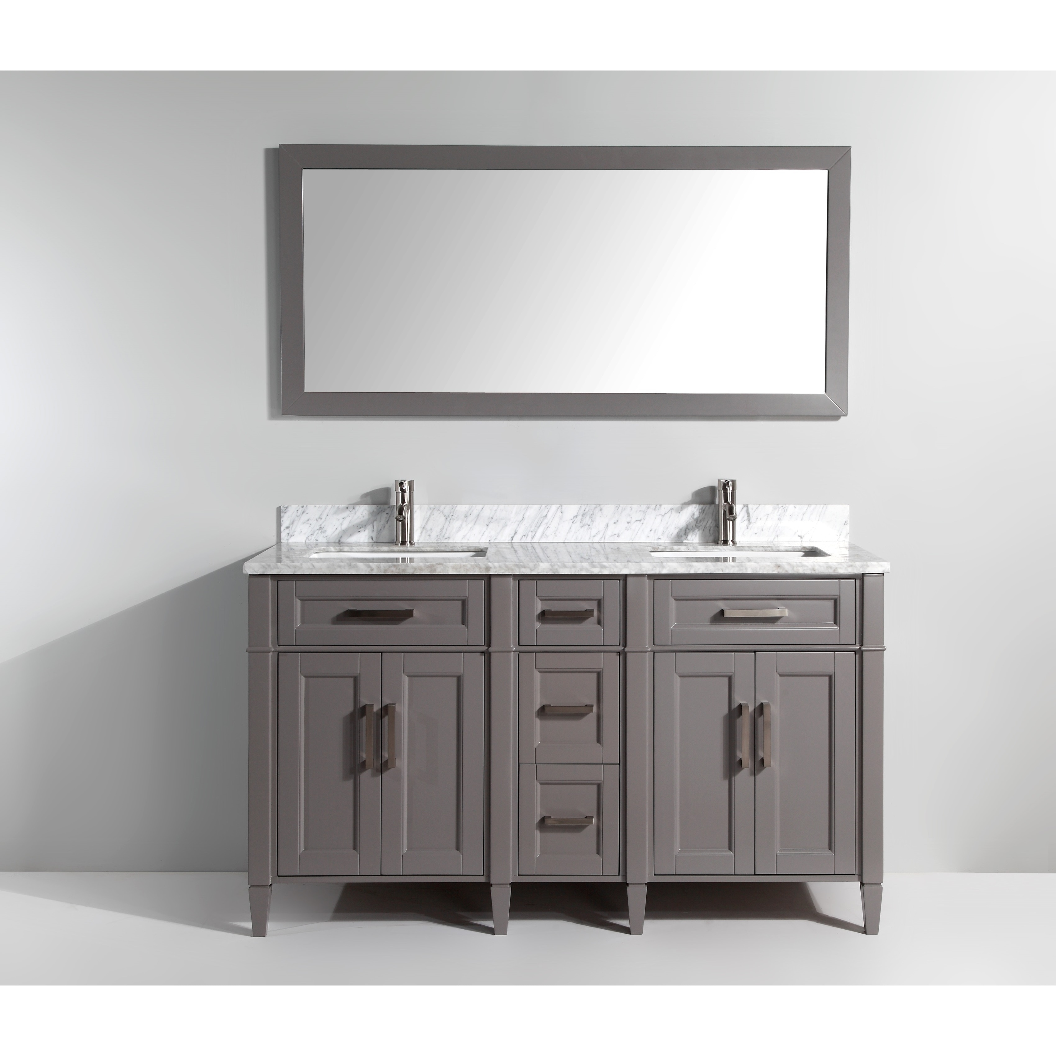 Vanity art inch double sink bathroom vanity set with carrara