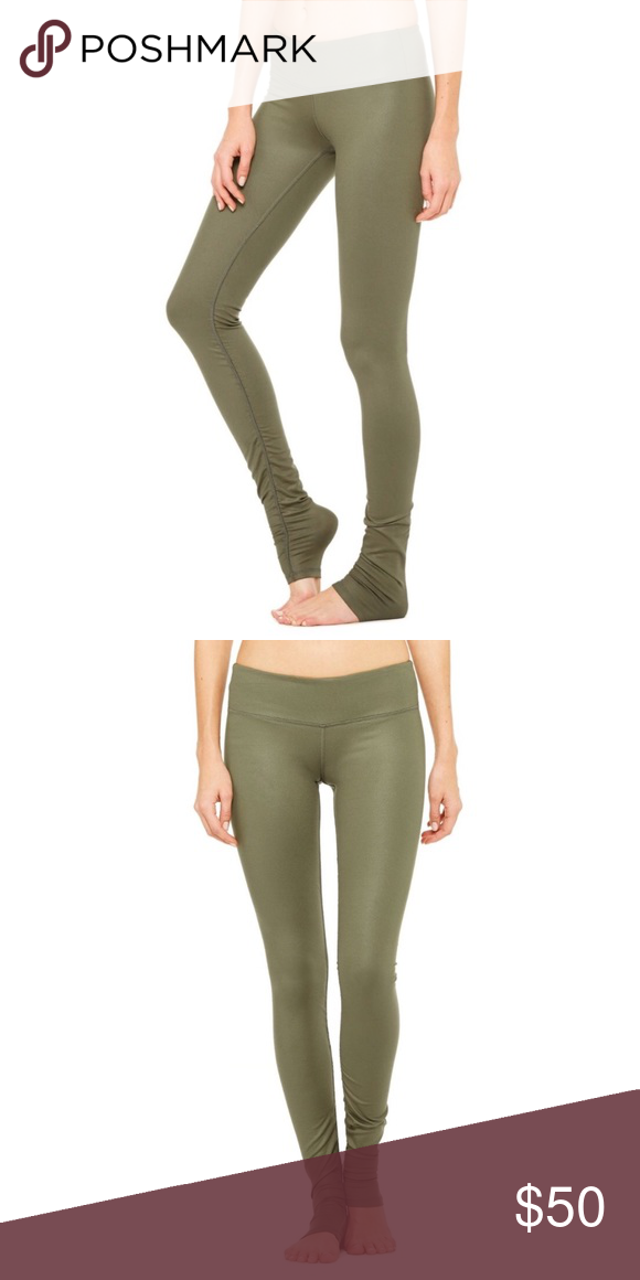 8847c3e335 Alo Yoga Idol Legging in Jungle Glossy Worn and washed only once. Size  Medium. In excellent, like new condition. Flattering leggings with a great  amount of ...