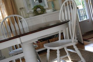 "Naptime Decorator: Applying MinWax to Chalk Painted Furniture: My ""New"" Dining Room Set!"