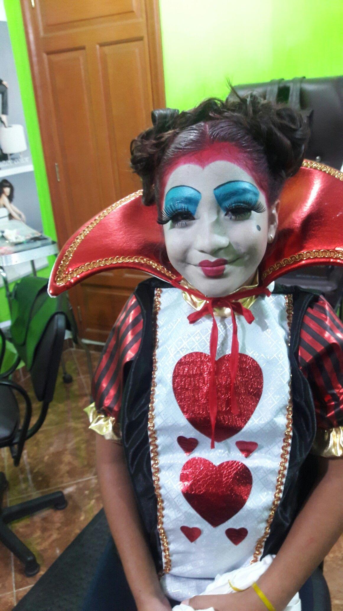 Makeup halloween reina de corazones