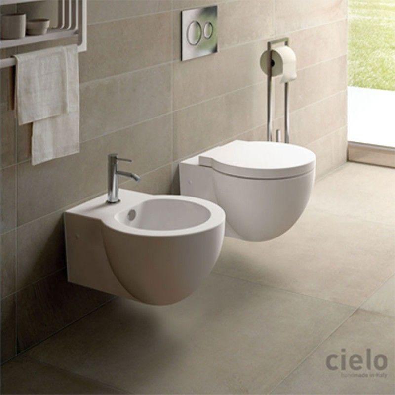 Cielo Easy Evo Vaso Bidet E Coprivaso Rallentato Design Ceramica