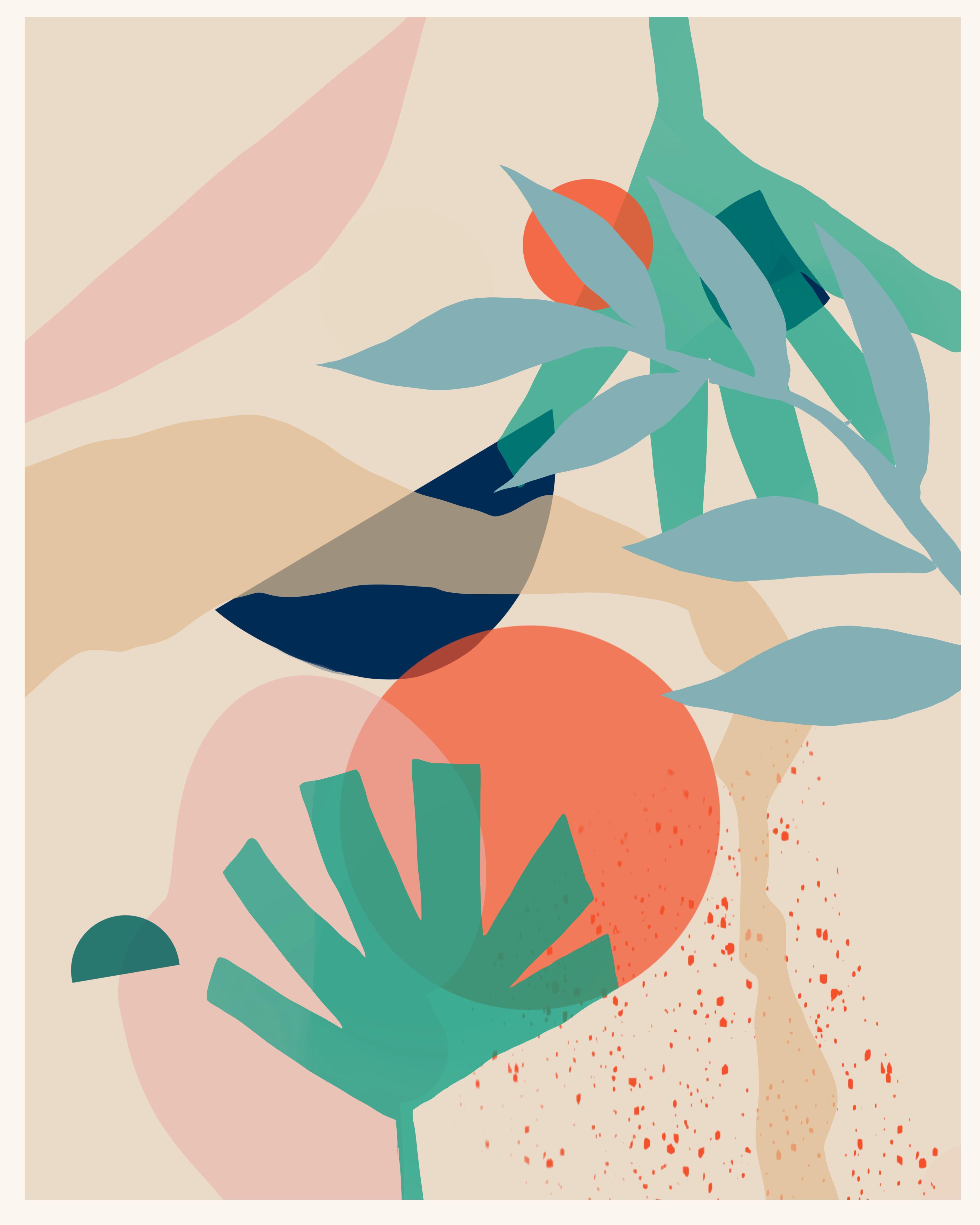 Modern Graphic Art Wallpaper