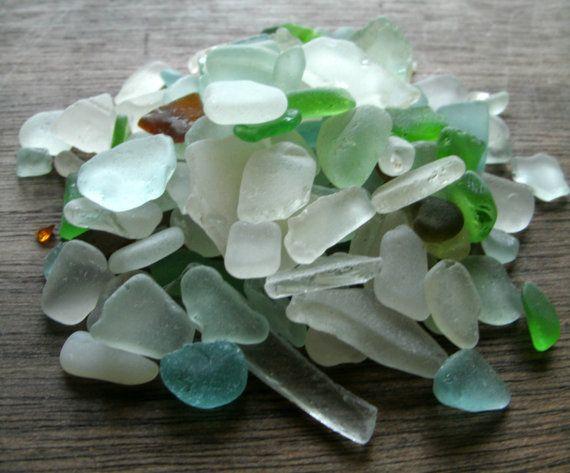 Hawaiian Sea Glass150 BULK variety shaped frosty by ainakauai, $26.00