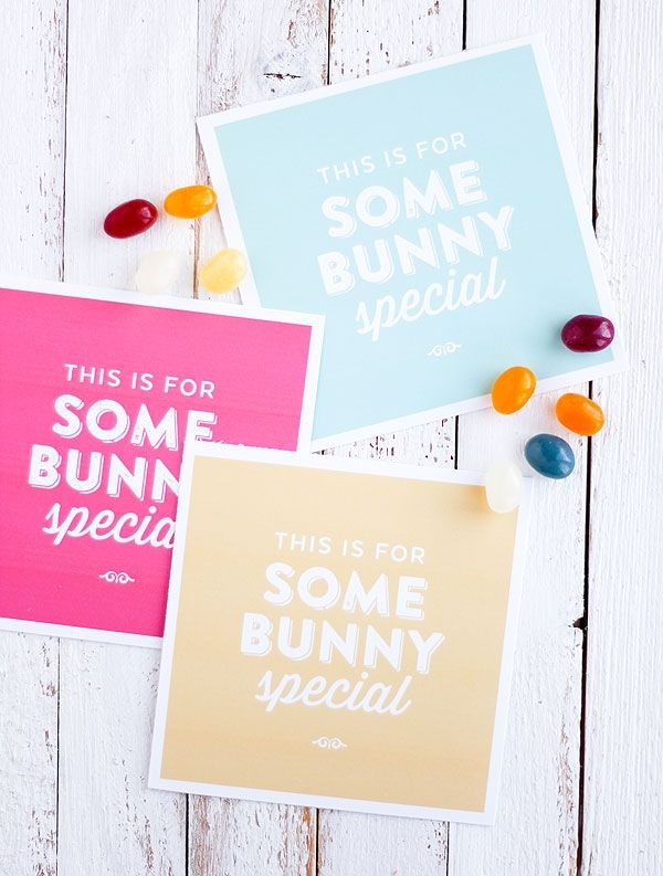the free easter bunny gift printables would make really cute labels