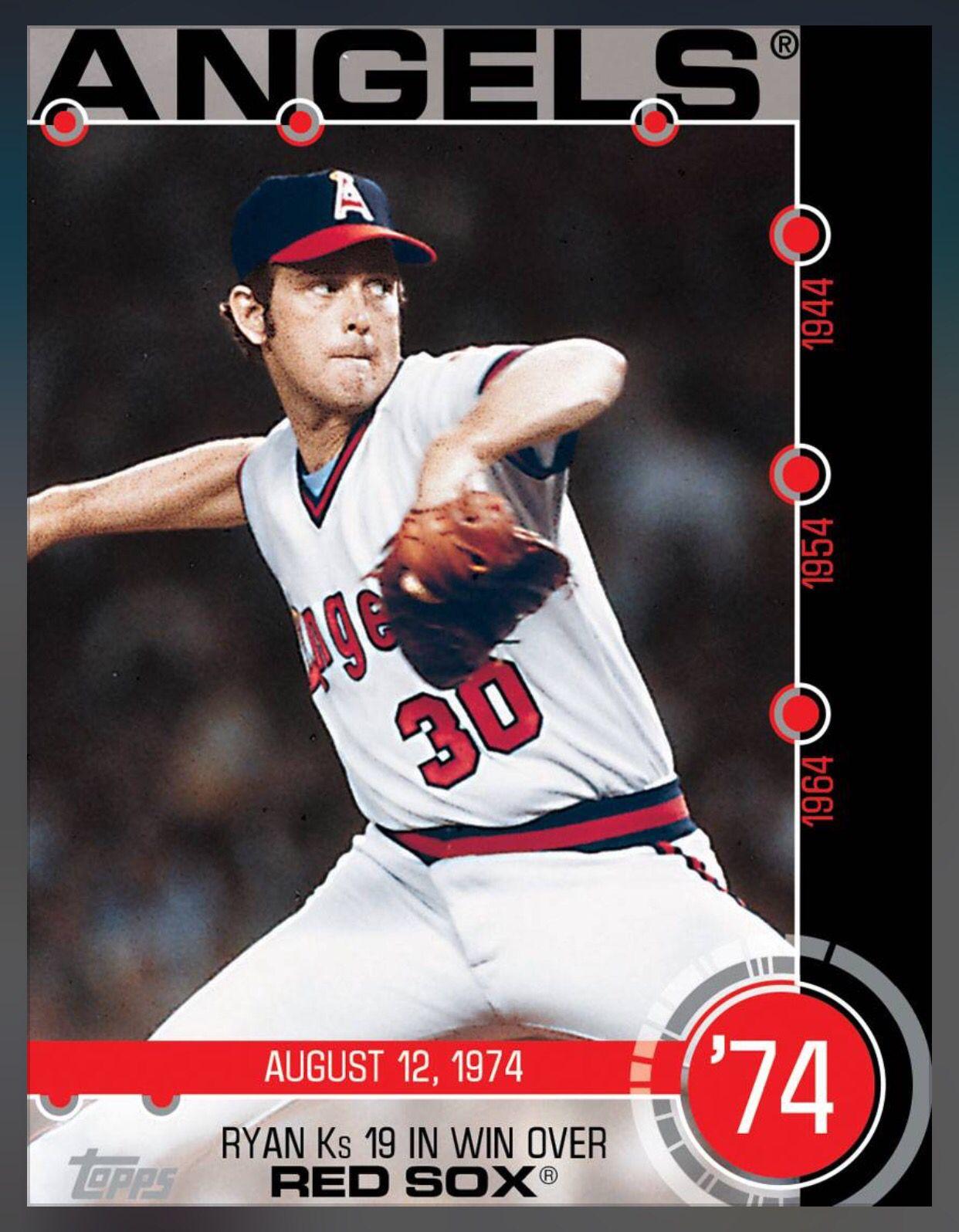 nolan ryan los angeles angels baseball history insert card 2015